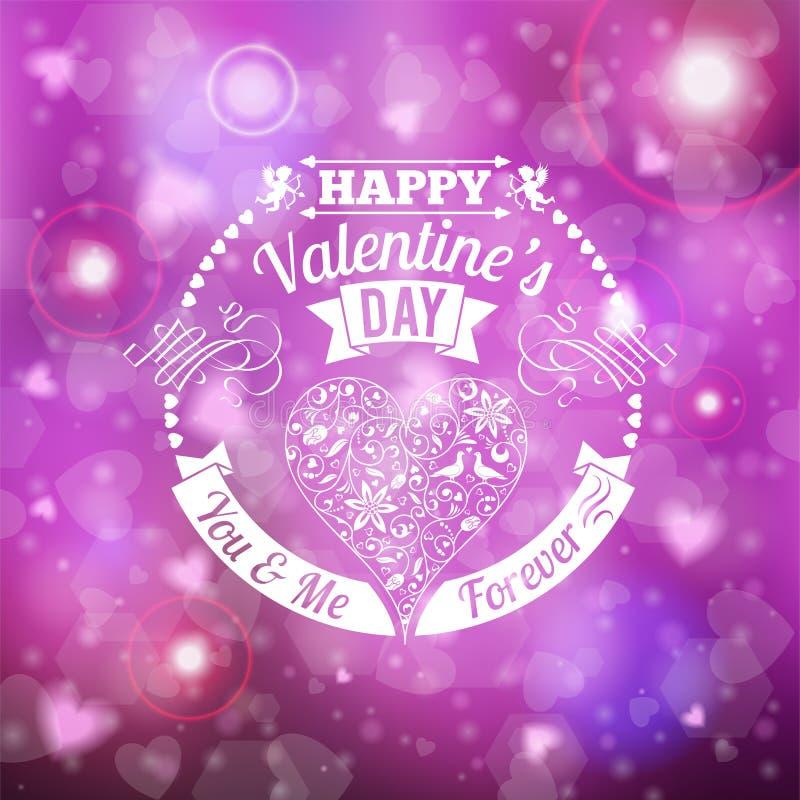 De dagkaart van de valentijnskaart royalty-vrije illustratie