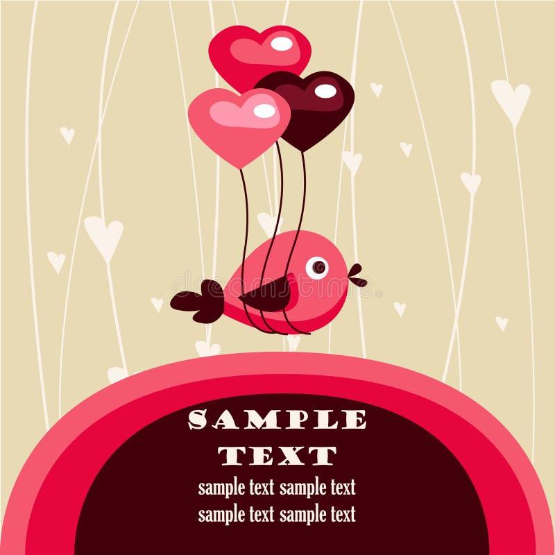 De dagkaart van de valentijnskaart met plaats voor uw tekst vector illustratie