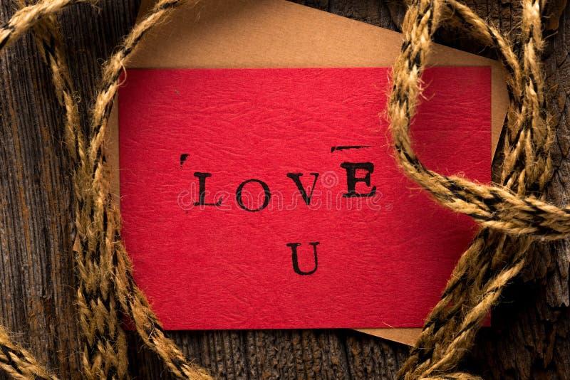 De Dagkaart van met de hand gemaakt Valentine stock afbeelding