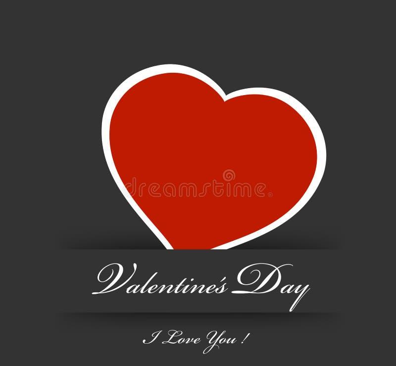 De dagkaart van valentijnskaarten stock illustratie