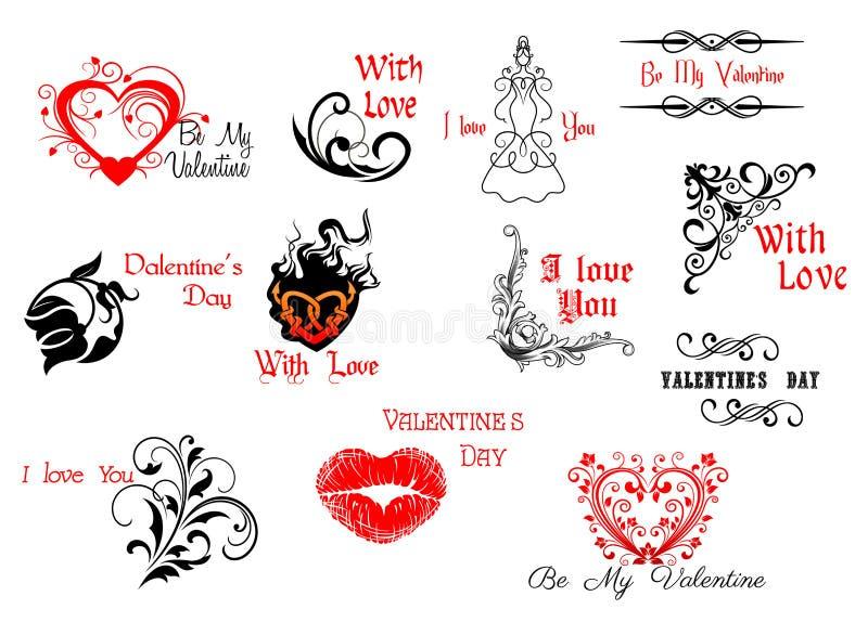 De Dagkopballen en manuscripten van Valentine royalty-vrije illustratie