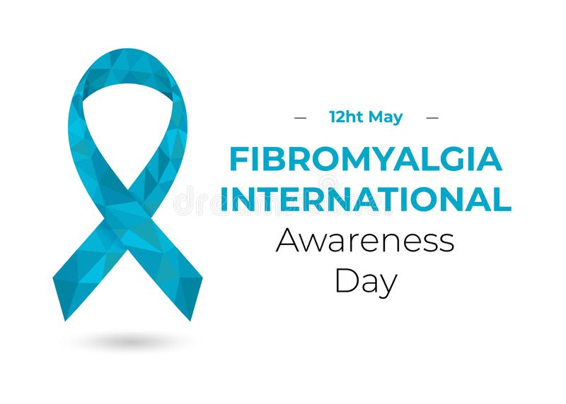 De Daglint van de Fibromyalgiavoorlichting, twaalfde van Mei vector illustratie