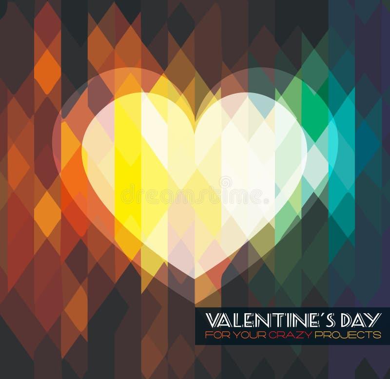 De Dagmalplaatje van modern modieus Valentine voor uw vlieger stock illustratie