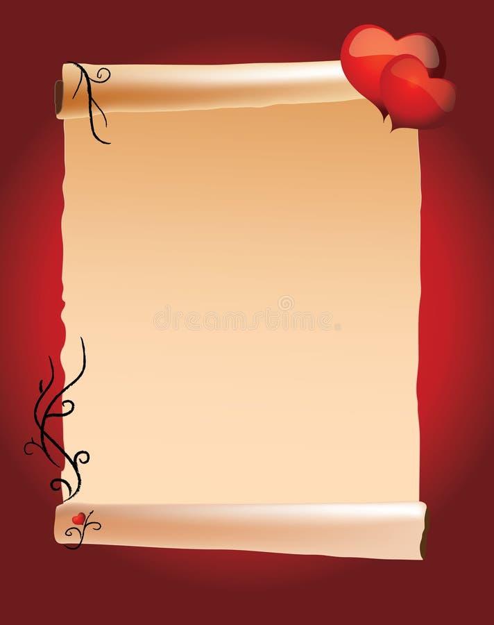 De dagmenu van de valentijnskaart royalty-vrije illustratie