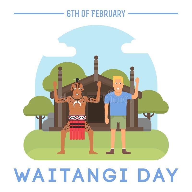 De dagonderwerp van Nieuw Zeeland Waitangi stock afbeeldingen