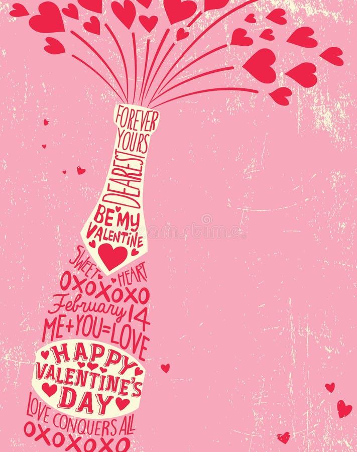 De Dagontwerp van Valentine met ruimte voor tekst royalty-vrije illustratie