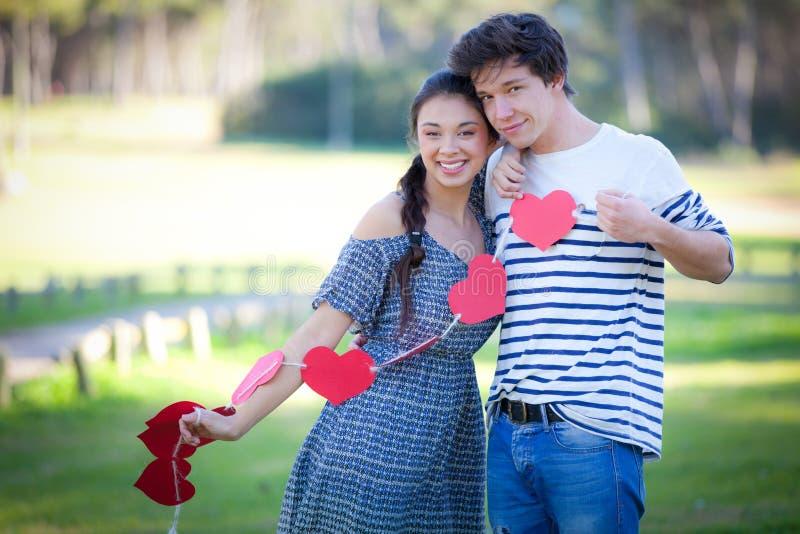 De dagpaar van valentijnskaarten royalty-vrije stock afbeelding