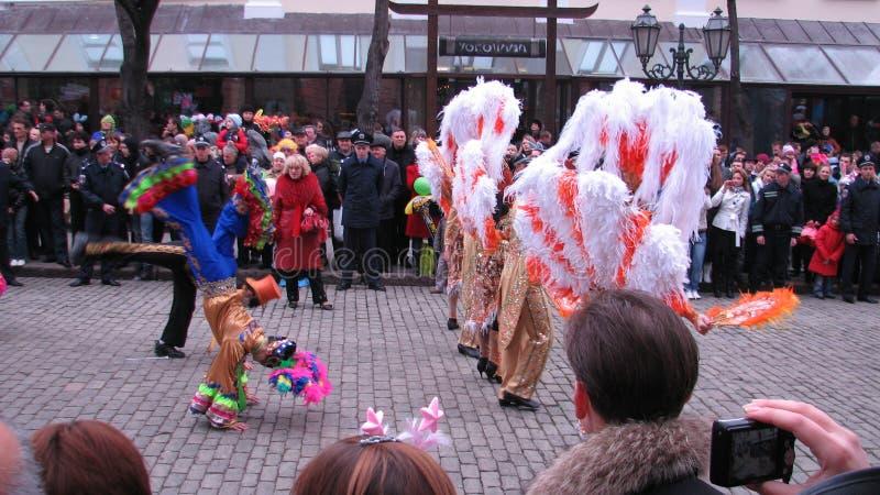 De Dagparade van April Fool in Odessa, de Oekraïne stock fotografie
