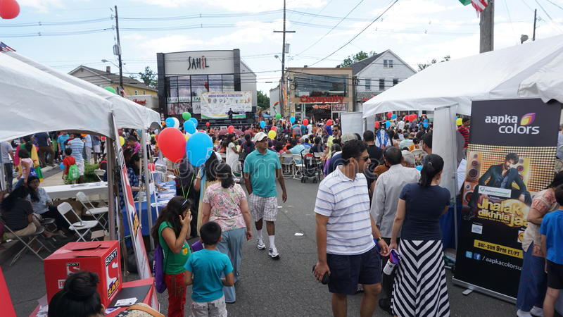 de Dagparade van India van 2015 jaarlijkse in Edison, New Jersey stock fotografie