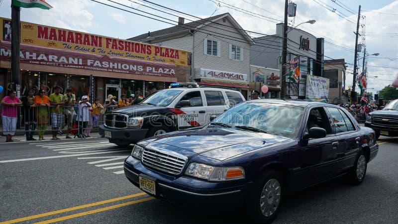 de Dagparade van India van 2015 jaarlijkse in Edison, New Jersey stock foto's