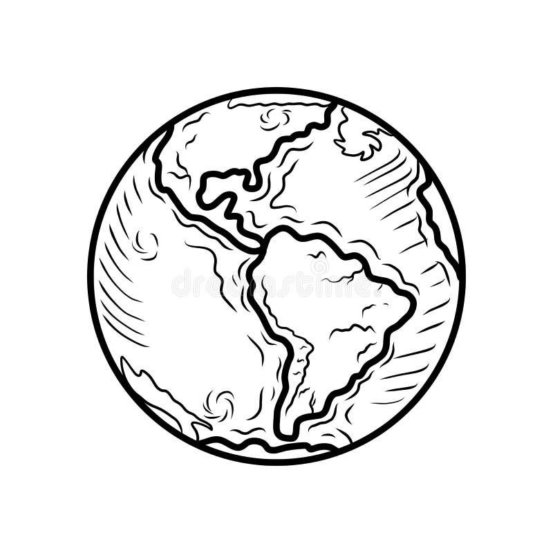 De dagpictogram van het bolhart, hand getrokken stijl stock illustratie