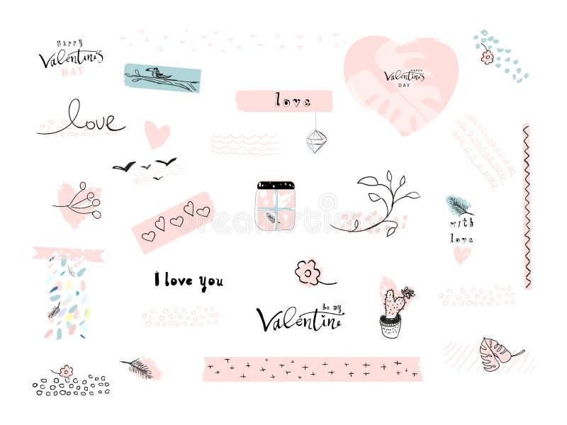 Download De Dagreeks Van Valentine S Stock Illustratie - Illustratie bestaande uit kaart, art: 107701741