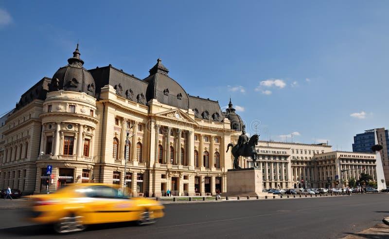 De dagscène van Boekarest stock afbeelding