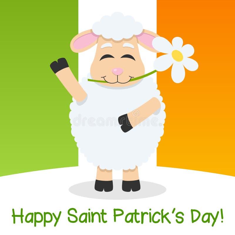 De Dagschapen van heilige Patrick s & Ierse Vlag stock illustratie