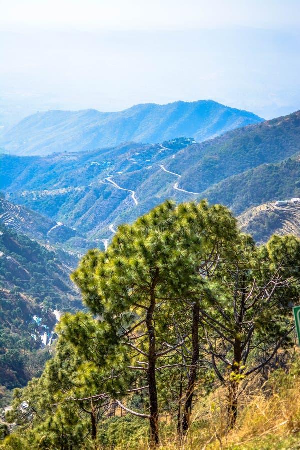 De Dagshaiheuvels bekijken himachal Pradesh stock afbeelding