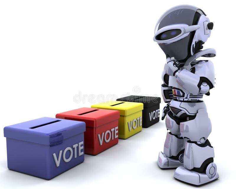 De dagstembus van de verkiezing