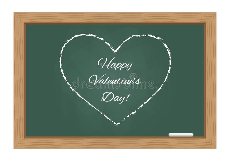 De dagtekst van de gelukkige valentijnskaart op bord royalty-vrije illustratie