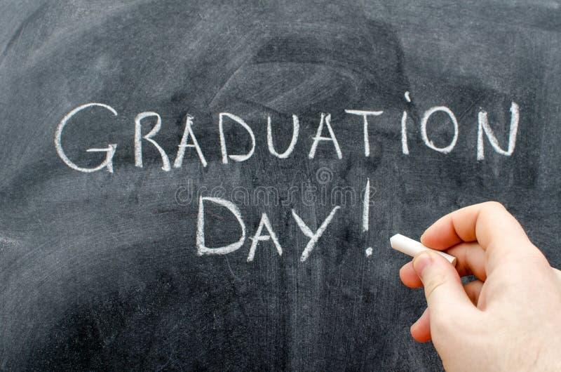 De dagtekst van de graduatie stock afbeeldingen