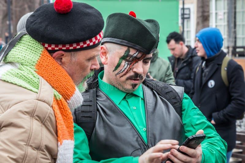De Dagviering van heilige Patricks in Sokolniki-park in Moskou royalty-vrije stock afbeelding