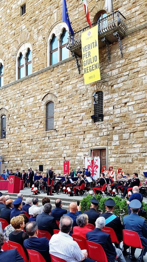 De Dagviering van de republiek in Florence, Italië royalty-vrije stock fotografie
