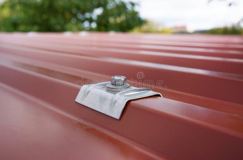 De dakbedekking is verbonden met koepels stock fotografie
