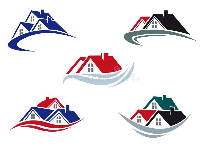 De daken van het huis royalty-vrije illustratie