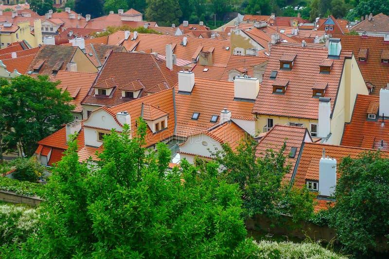 De daken van Praag, Tsjechische Republiek royalty-vrije stock afbeeldingen