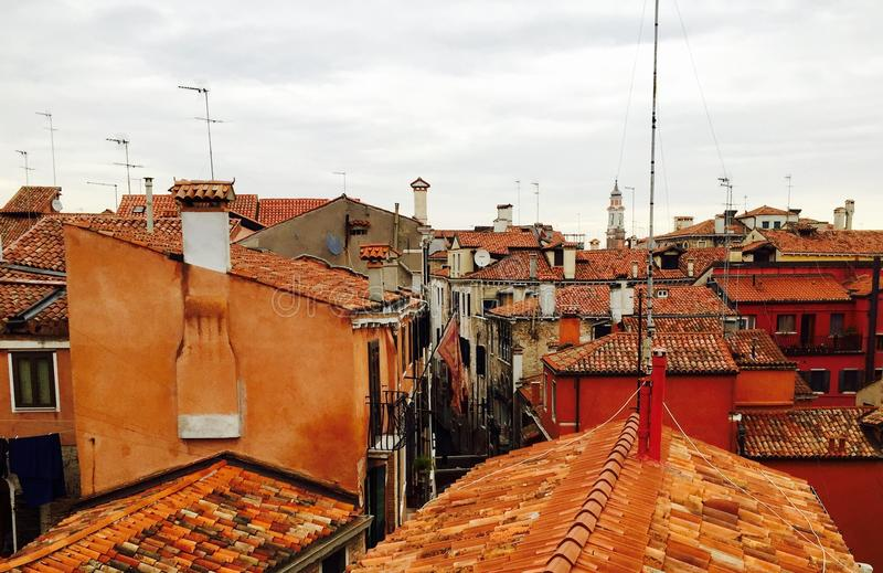 De daken van Venetië royalty-vrije stock foto's