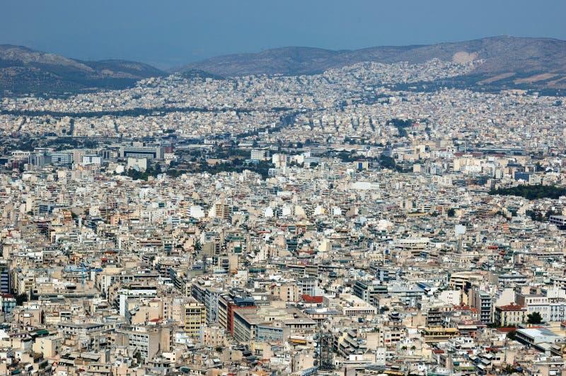 De dakenpanorama van Athene, Griekenland royalty-vrije stock fotografie