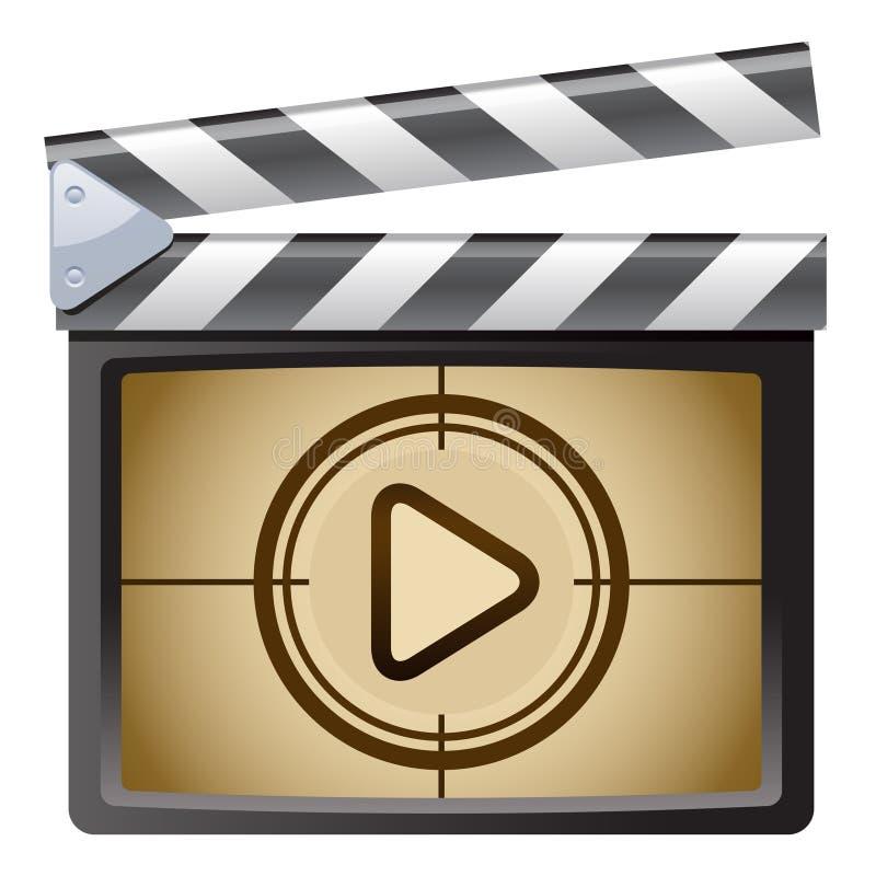 De Dakspaan van de film. Spel vector illustratie