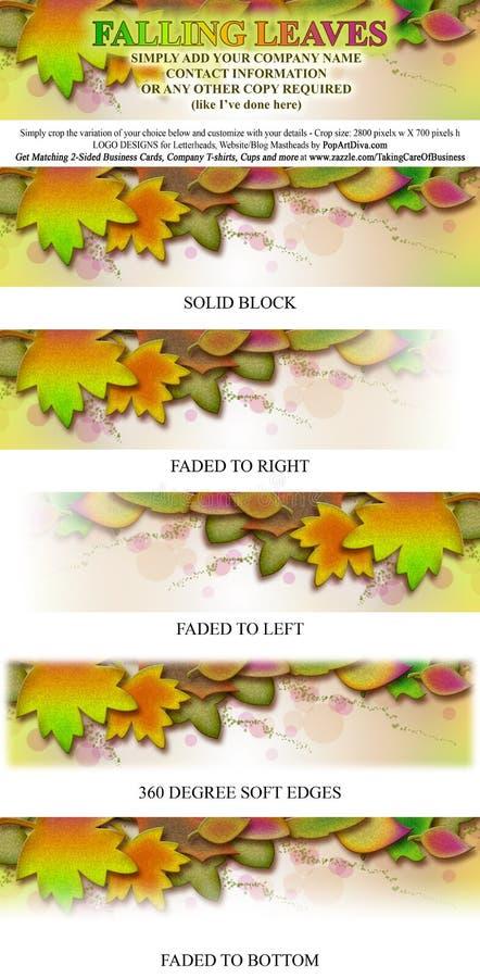 De dalende Banner van Masthead van het Embleem van Bladeren vector illustratie
