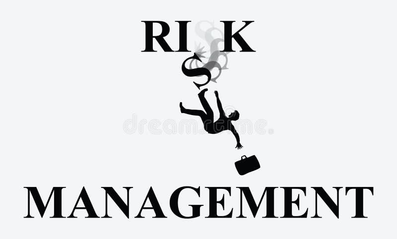De Dalende Illustratie van de risicobeheermens royalty-vrije illustratie