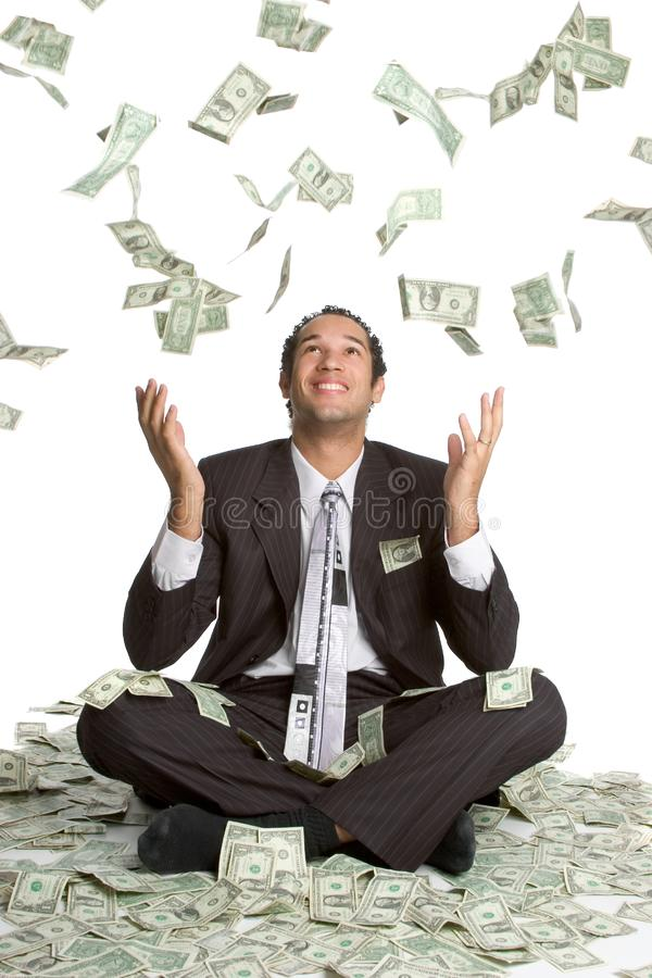 De dalende Mens van het Geld royalty-vrije stock foto's