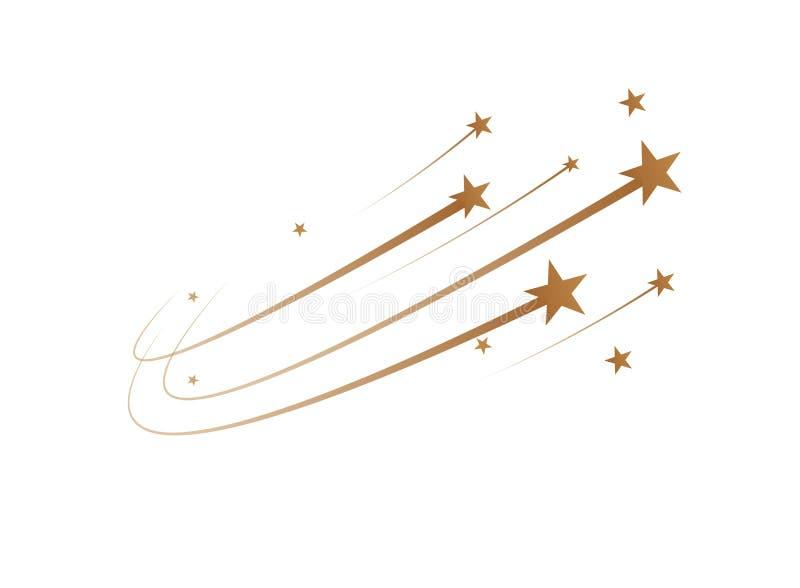 De dalende sterren zijn een eenvoudige tekening Vector stock illustratie