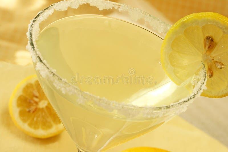 De Daling Martini van de citroen stock foto