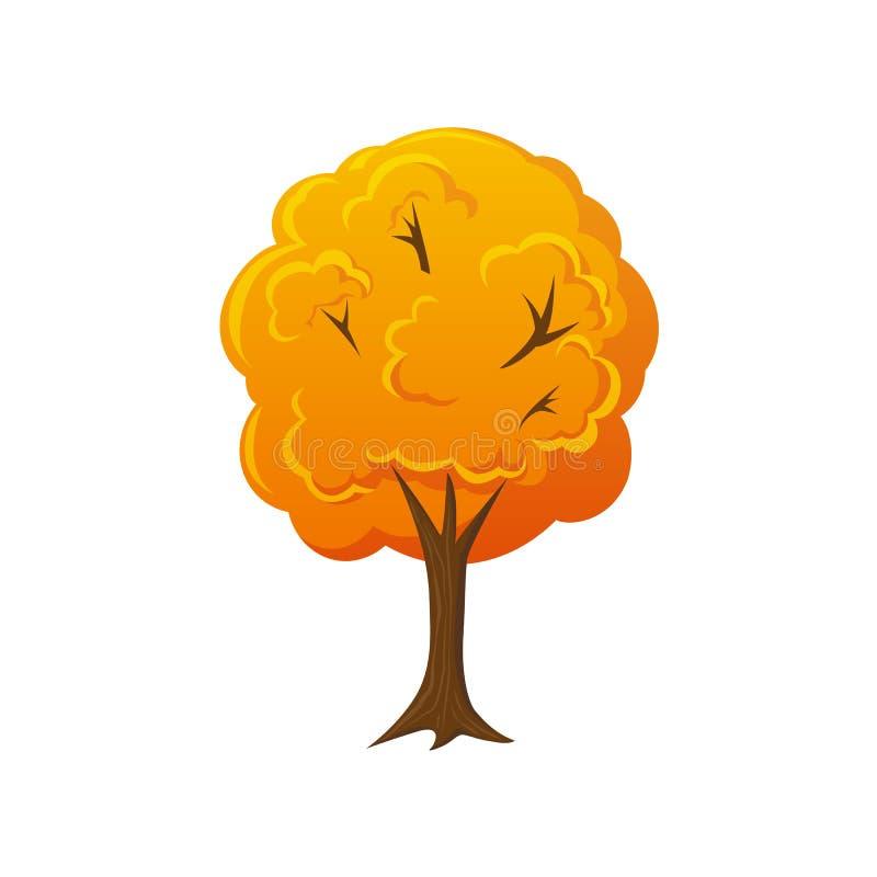 De daling van de beeldverhaalstijl, de herfstboom royalty-vrije illustratie