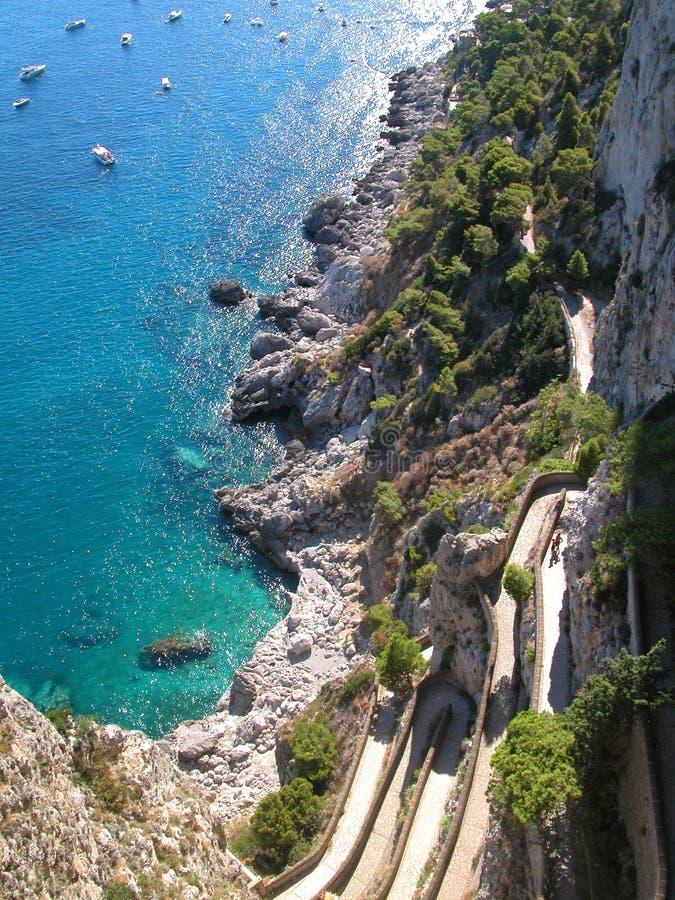 De Daling van Capri stock foto's