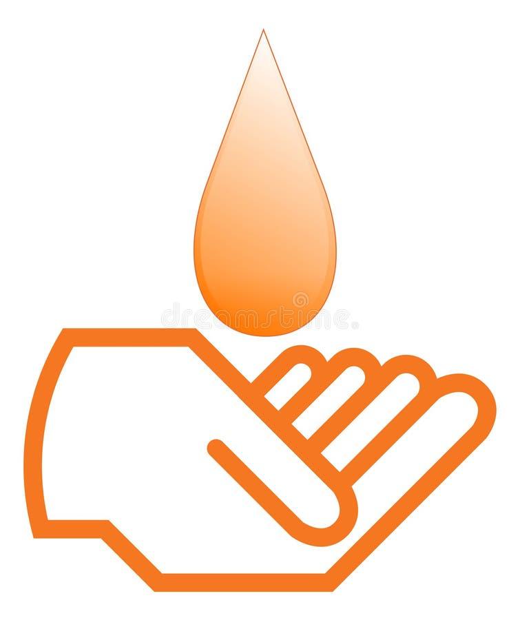 De daling van de benzine met hand vector illustratie