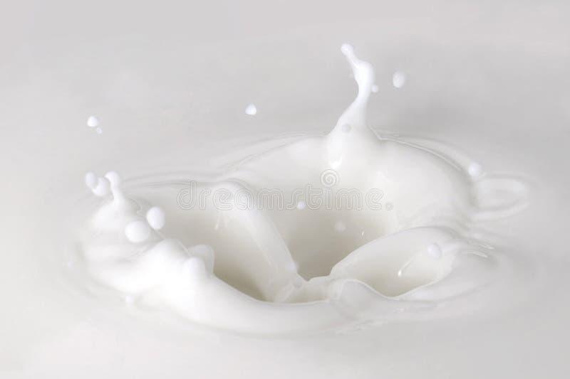 De Daling van de melk stock afbeelding