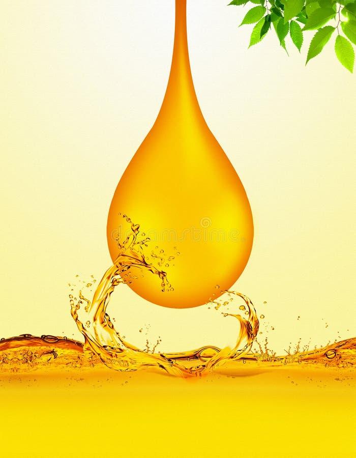 De Daling van de olie royalty-vrije illustratie