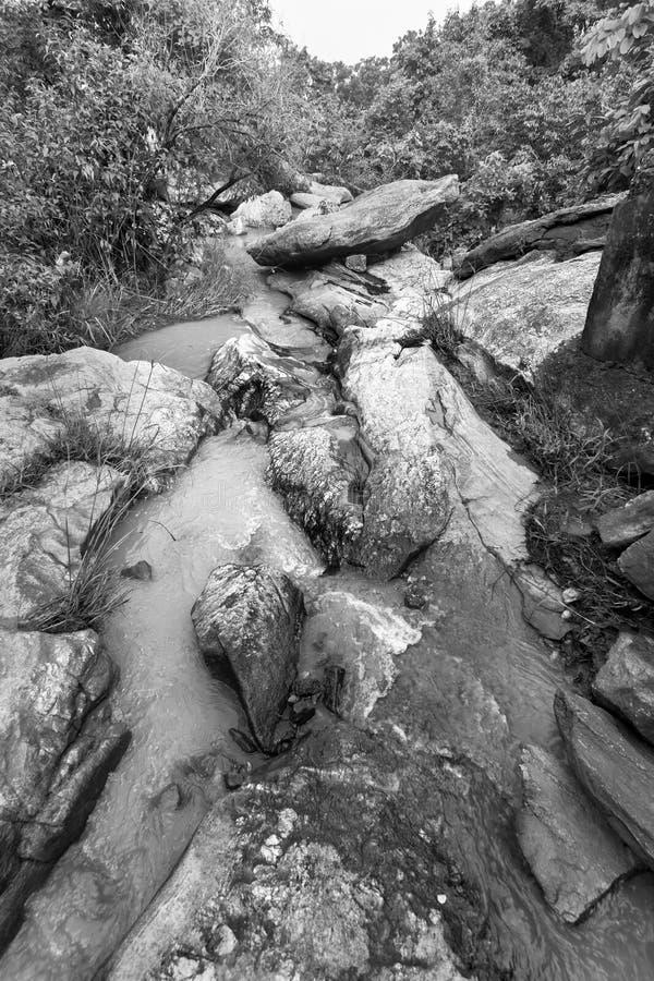 De daling van het Bamniwater, Purulia, West-Bengalen - India stock afbeelding