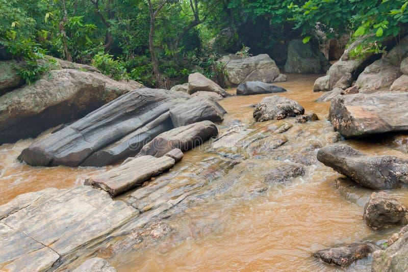 De daling van het Bamniwater, Purulia, West-Bengalen - India stock afbeeldingen