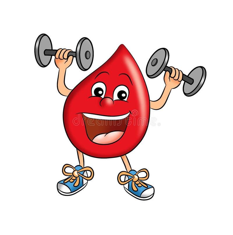 De daling van het bloed stock illustratie