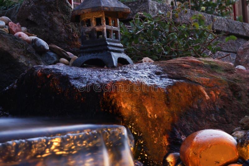 De Daling van het tuinwater stock foto