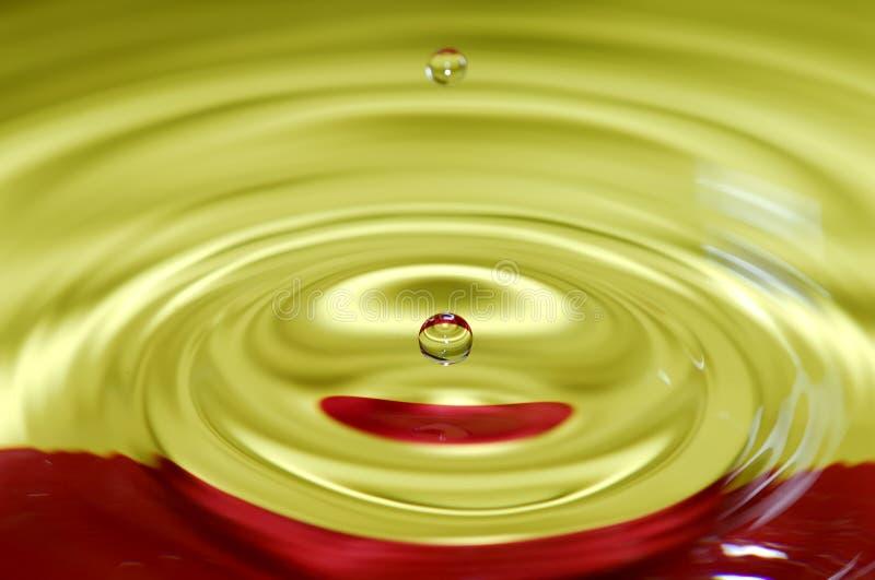 De Daling van het water stock foto's
