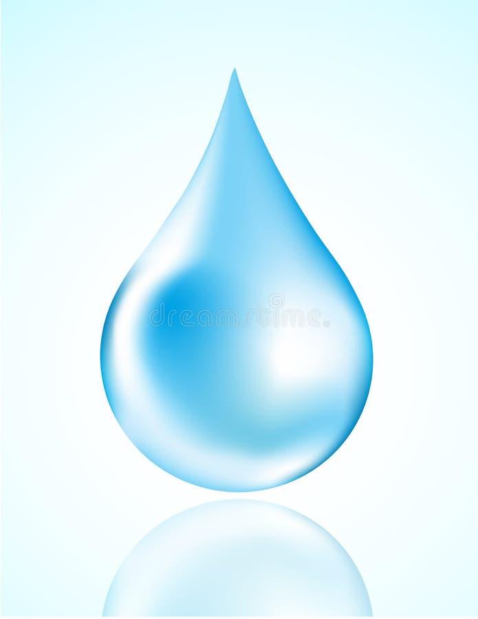 De daling van het water stock illustratie