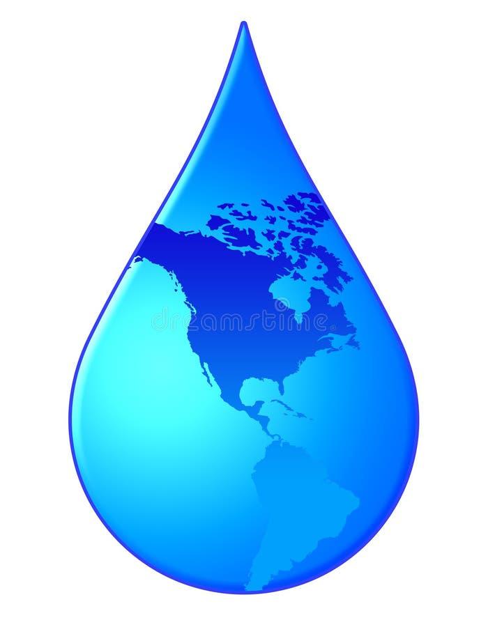 De daling van het water royalty-vrije illustratie