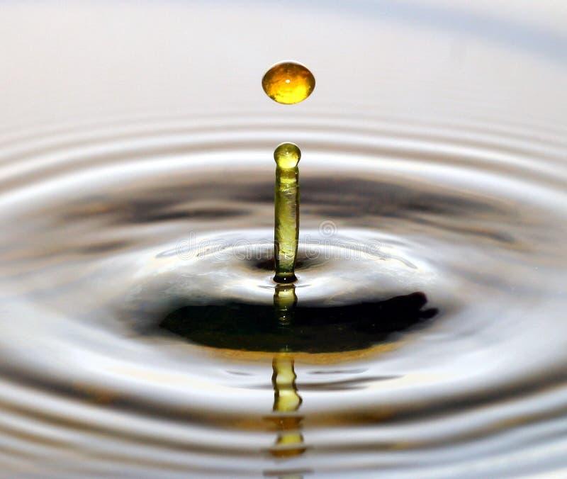 De daling van het water stock afbeelding