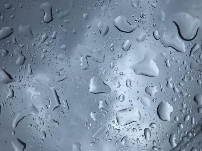 De daling van het water op glas royalty-vrije stock foto