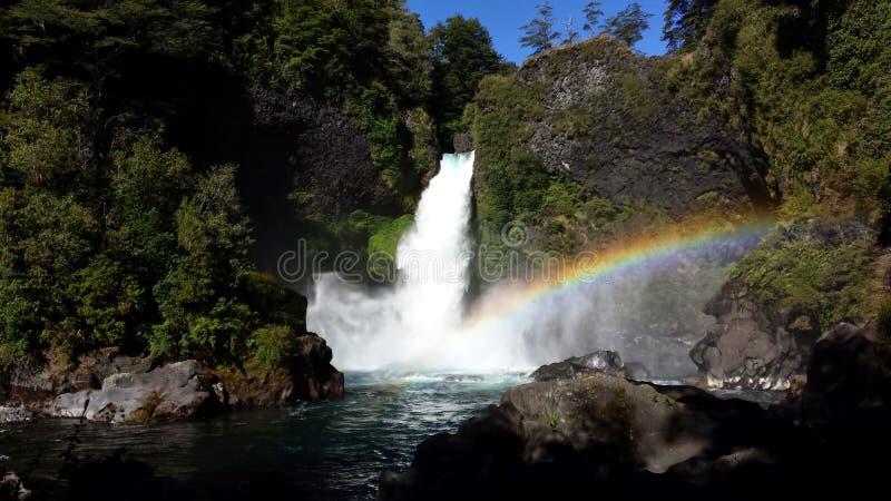 De Daling van Huilohuilo - Chili stock fotografie
